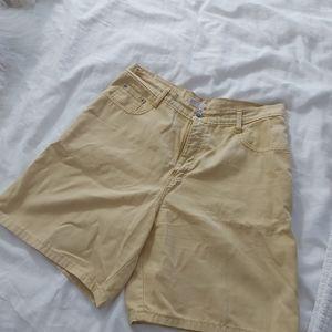EUC Vintage NewTime yellow bermuda shorts